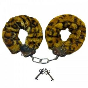 Наручники с леопардовым мехом