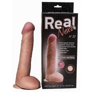 """Фаллоимитатор на присоске 9,6"""" REAL Next №32"""