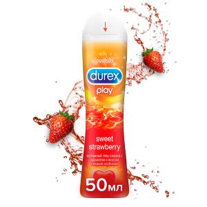Гель-смазка Durex Play Sweet Strawberry с возбуждающим ароматом клубники 50 мл