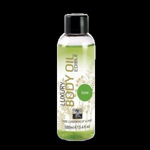 Съедобное масло для тела с ароматом Лайма