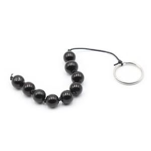 Анальная цепочка Anal bead черная 1,8 см