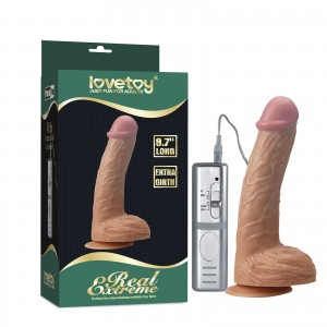 Вибратор на присоске Real Extreme Extra Girth Vibrating Dildo 22 см
