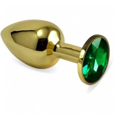 Анальная пробка Gold Green S