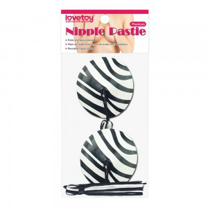 Пэстисы для груди Reusable Zebra Round Tassel Nipple Pasties