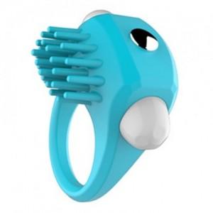Эрекционное кольцо голубое с вибрацией