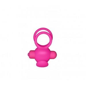 Двойное вибро-кольцо Double Cock Ring розовое