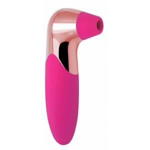 Розовый вакуумный стимулятор клитора PRO-X5