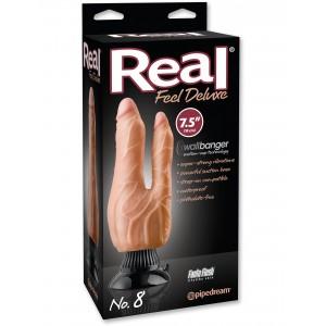 Фаллоимитатор двойной с вибрацией Real Feel Deluxe # 8 Flesh