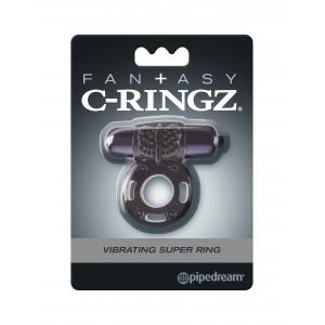 Эрекционное кольцо с вибрацией Fantasy C-Ringz Vibrating Super Ring Black