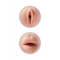 Мастурбатор 2 в 1 Tight Grip Pussy & Mouth Masturbator