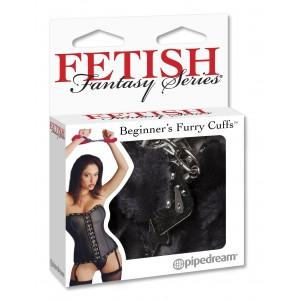 Наручники с мехом FF Beginner's Furry Cuffs Black