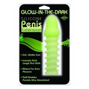 Светящаяся в темноте стимулирующая насадка на пенис