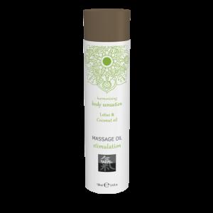 Массажное масло stimulation - Лотос и кокосовое масло 100 мл.