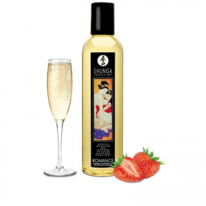 Массажное масло Shunga Sparkling Strawberry Wine 250 мл