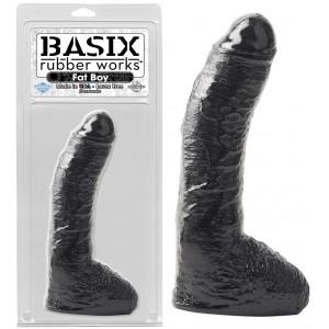 """Фаллоимитатор с мошонкой Basix Rubber Works 10"""" Fat Boy Black"""