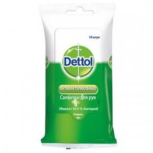 Влажные салфетки Dettol антибактериальные, 10 шт