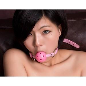Розовый кляп-шар