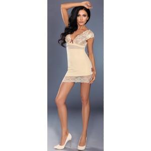 Кремовая сорочка с трусиками Sarah L\XL