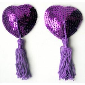 Пурпурные пэстисы для груди с паетками