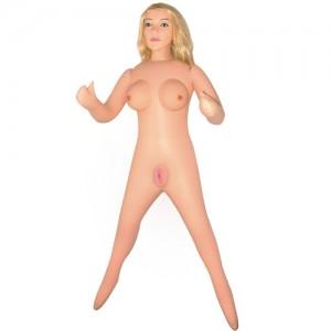 Надувная кукла блондинка с закрытым ротиком