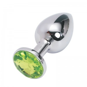 Анальная пробка Anal Jewelry Plug Silver Light Green S