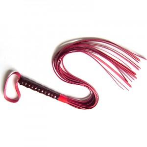 Кожаная плеть красная
