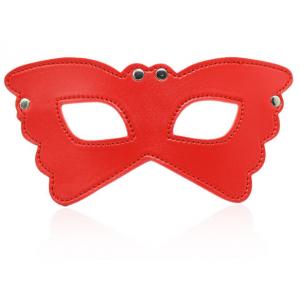БДСМ маска-очки красная