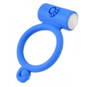 Виброкольцо голубое Power Bud Сlit Сockring