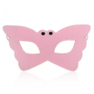 БДСМ маска-очки розовая
