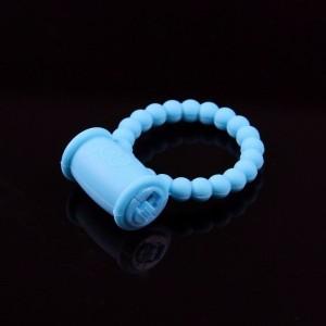 Эрекционное кольцо с вибрацией голубое