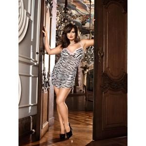 Эротическое мини-платье в рубчик XL/XXL