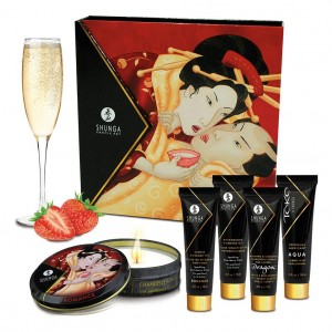 Подарочный набор Shunga Geisha's Secret Sparkling Strawberry Wine