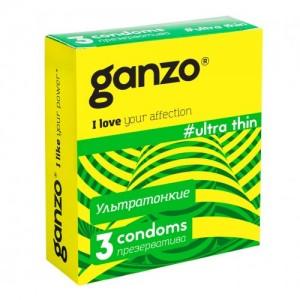 Презервативы Ganzo Ultra thin №3 (Ультра тонкие)
