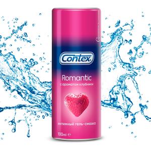 Гель-смазка Contex Romantic с ароматом клубники 100 мл