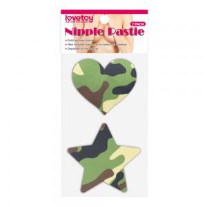 Пэстисы для груди Camo Stars and Heart Nipple Pasties (2 Pack)