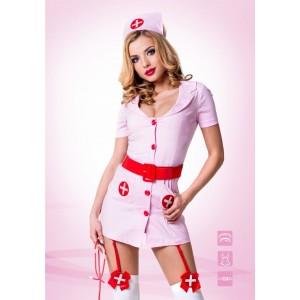 Костюм Похотливая медсестра розовая L/XL