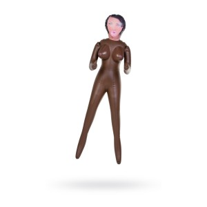 Кукла надувная, негритянка, TOYFA Dolls-X, в полный рост, с тремя отверстиями, 160 см